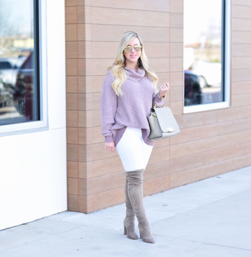 Oversized Cowl Neck Sweater | Winter Look | The Darling Petite Diva