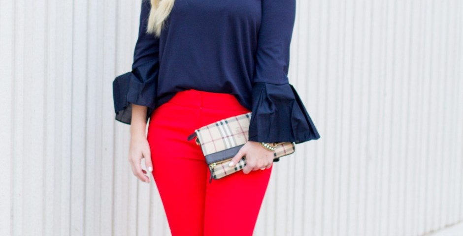 Hot Pants, Red Pants | Spring Look | The Darling Petite Diva