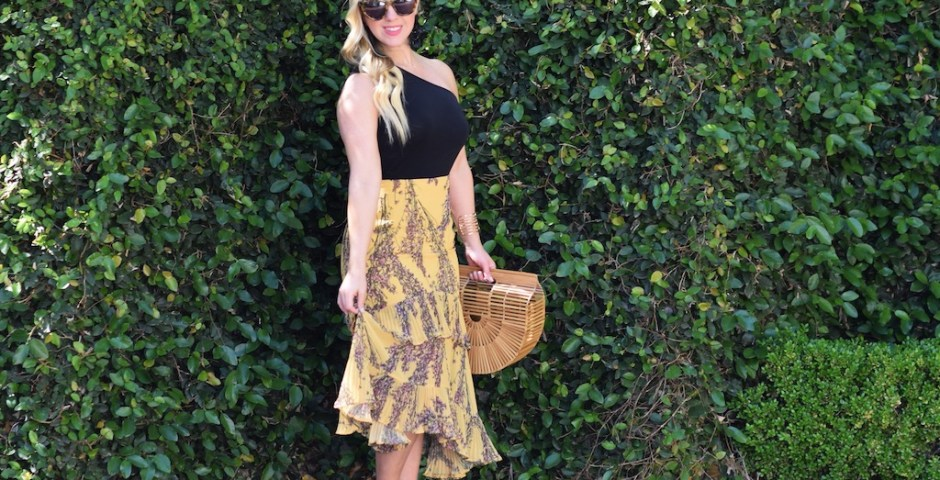 Yellow Floral Skirt | The Darling Petite Diva