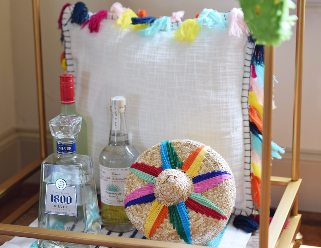 Cinco de Mayo Inspired Bar Cart
