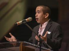 Jonathan Chan at podium