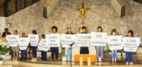 A group of children hold up signs for the numbers and types of offenses for which Florida children have been arrested over a one-year period. More than 1,000 representatives of 22 Broward churches gathered April 11 at St. David Church, Davie, for the annual Nehemiah Action meeting of BOLD Justice, a grass-roots, faith-based coalition that advocates for the needs of the poor in Broward County.