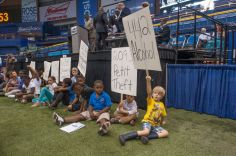 children with signs