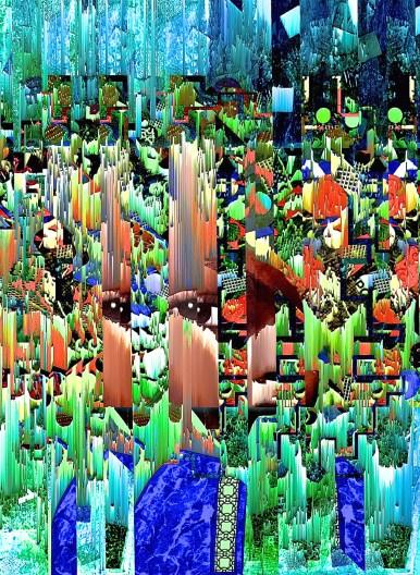 """Brain Fog"" digital collage ""Super Selfie: Joy"" Series"
