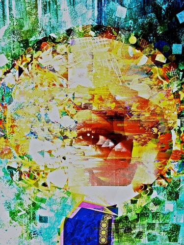 """Monocle"" digital collage ""Super Selfie: Joy"" Series"