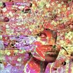 """""""Skin Deep"""" digital collage """"Super Selfie: Joy"""" Series"""