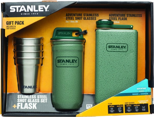 gifts for drinkers - Stanley Stainless Steel Shots and Flask Gift Set -- alcohol gifts from @thedashanddine