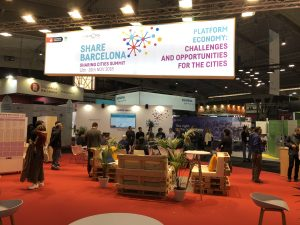 A Sharing Cities stand at the Smart City Expo