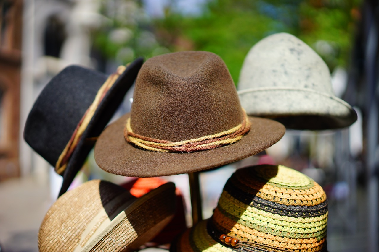 hat rack with hats