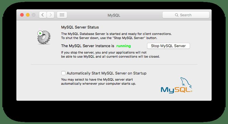Start MySQL