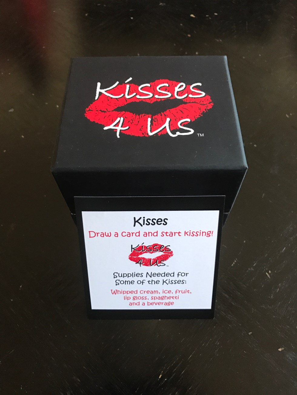 ce5edfd9433a Kisses 4 Us is a box of Fun, Flirty and Romantic Kisses for Making Kissing  FUN! Priced at only $19.99, each Kisses 4 Us soft-touch laminated box is  filled ...