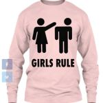 Girls Rule_LongSleeve_pink