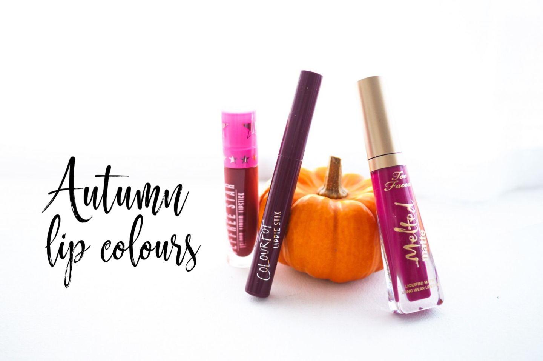 Autumn Lip Colours | US Cruelty Free