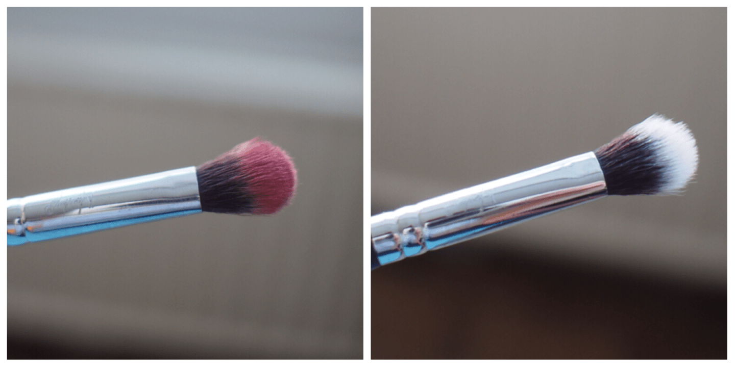 Stylpro Makeup Brush Cleaner before and after