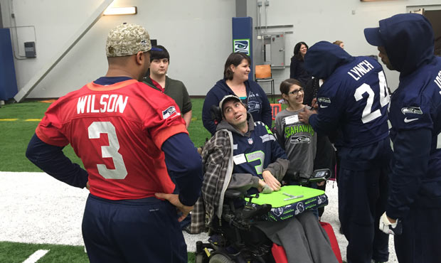 Seattle Seahawks quietly give dying 12 his dream day