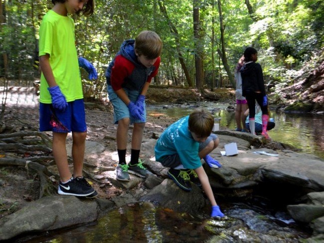 Springmont Students Inspect Local Water Quality