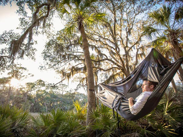 Kick back, relax, hang out. It's National Hammock Day