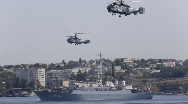 Russia's Navy Day: Warships, subs, aircraft show off military might (PHOTOS ...
