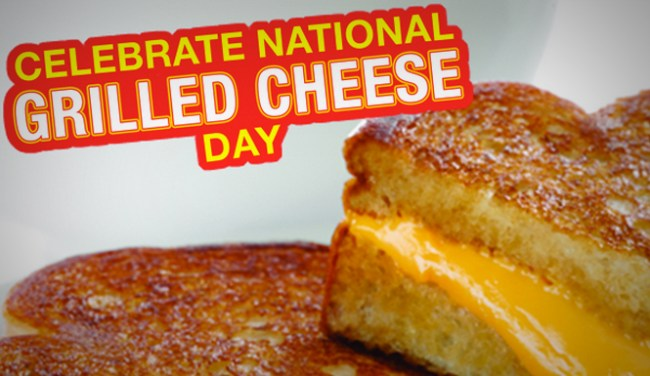 April 12 is National Grilled Cheese Sandwich Day