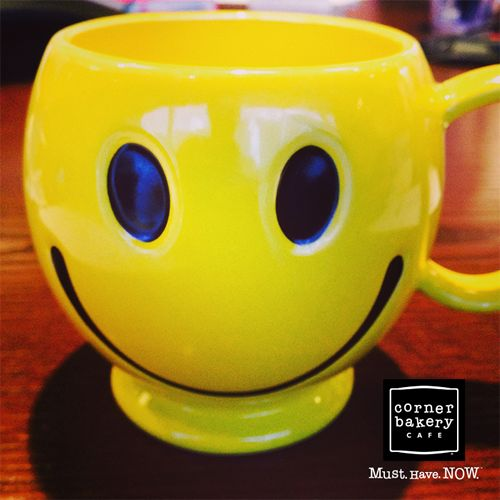 Corner Bakery Cafe Celebrates World Smile Day with Smiley Face Mug Giveaway