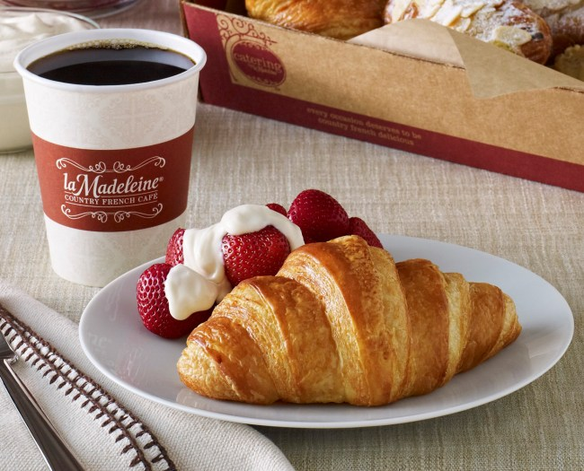 Get a free croissant at La Madeleine on Friday