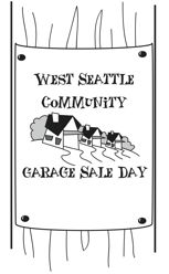 Be part of 2015 West Seattle Community Garage Sale Day! Registration now open