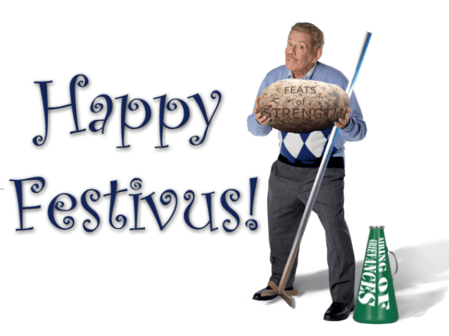 Paul issues Festivus grievances at opponents