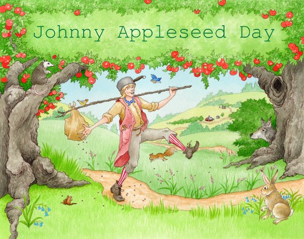 Students honor Johnny Appleseed at Our Lady of Victory School