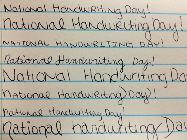 Photos: Saturday is National Handwriting Day