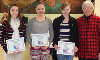 DAR Essay Contest winners recognized at board meeting