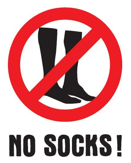 Get your socks off – It's No Socks Day