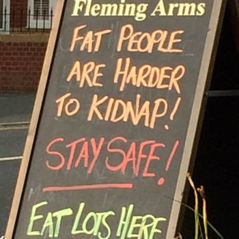 Landlord ticked off over pub sign 'banter'