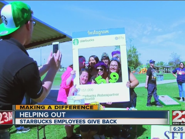 Starbucks employees give back for 'Employee Appreciation Day'