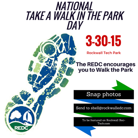 Head to Rockwall Technology Park for 'Take A Walk in the Park Day'