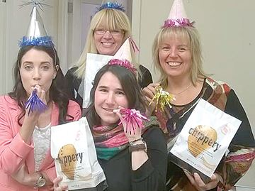 Alliston group celebrating National Potato Chip Day