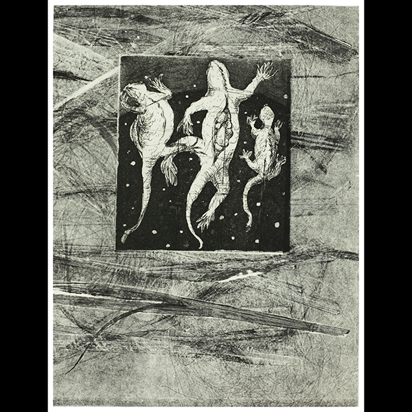 By: Diane Stemper Title: Trinity, 2014 Medium: Intaglio