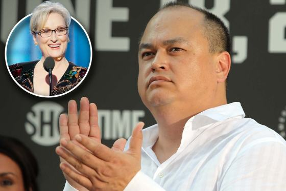 Bellator MMA boss Scott Coker invited Meryl Streep to a fight after she mentioned MMA in a Golden Globes acceptance speech on January 8. Photo/JOSH HEDGES/FORZA LLC/FORZA LLC VIA GETTY IMAGES; PAUL DRINKWATER/NBCUNIVERSAL VIA GETTY IMAGES