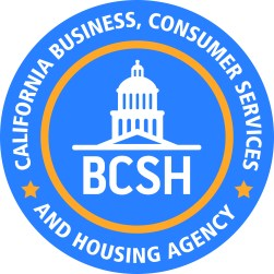 Business Consumer Services and Housing Agency logo