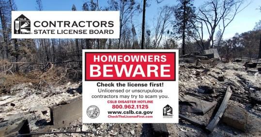 Sign reading homeowners beware