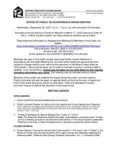 CSLB Meeting Agenda