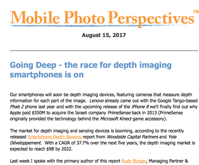 Mobile Photo Perspectives: Going Deep – the race for depth imaging smartphones is on