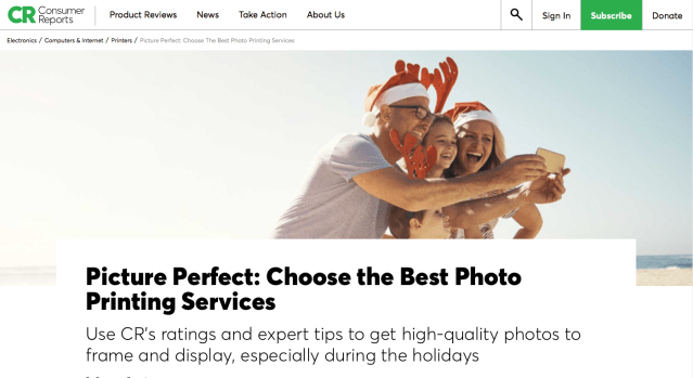 Consumer Reports does another strange photo print test