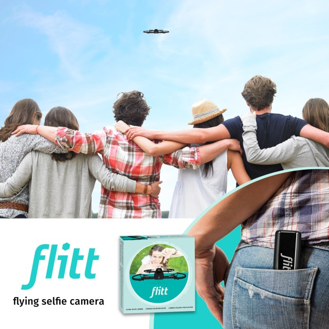 Fly, Shoot, Share with Flitt: 1st Indoor/Outdoor Slim-Body Flying Social Camera