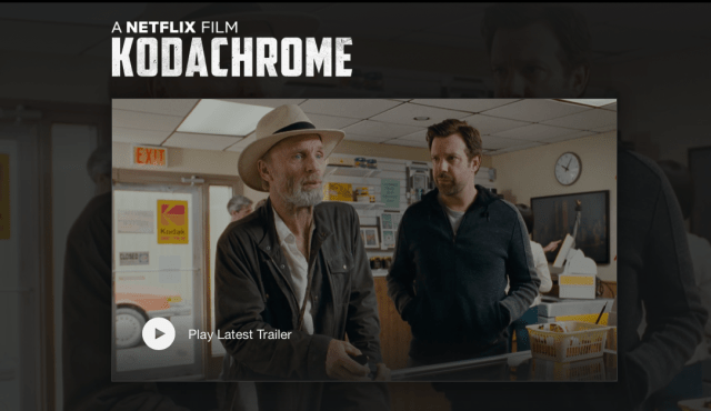 """Kodachrome"" movie to debut on Netflix April 20"