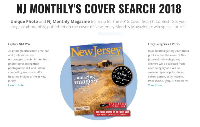 Unique Photo and New Jersey Monthly Launch Cover Photo Contest