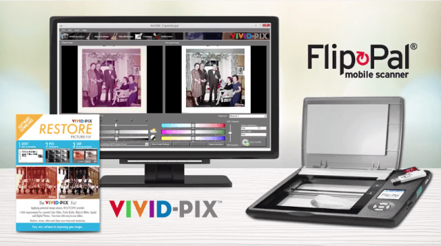 Flip-Pal mobile scanner, Vivid-Pix RESTORE software bundle makes ideal Mother's Day gift