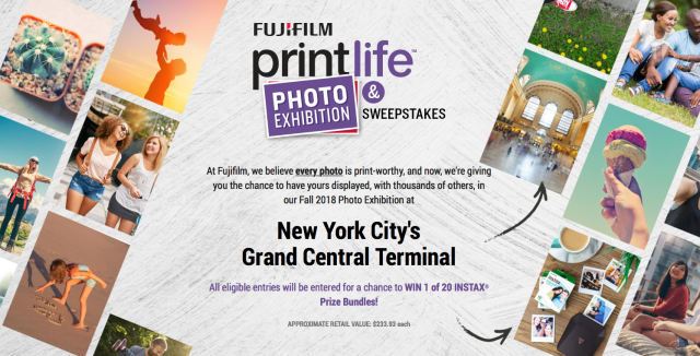 Fujifilm announces Print Life Photo Exhibition and Sweepstakes