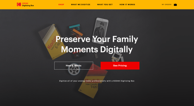 Licensee offering digitizing under Kodak Digitizing Box brand