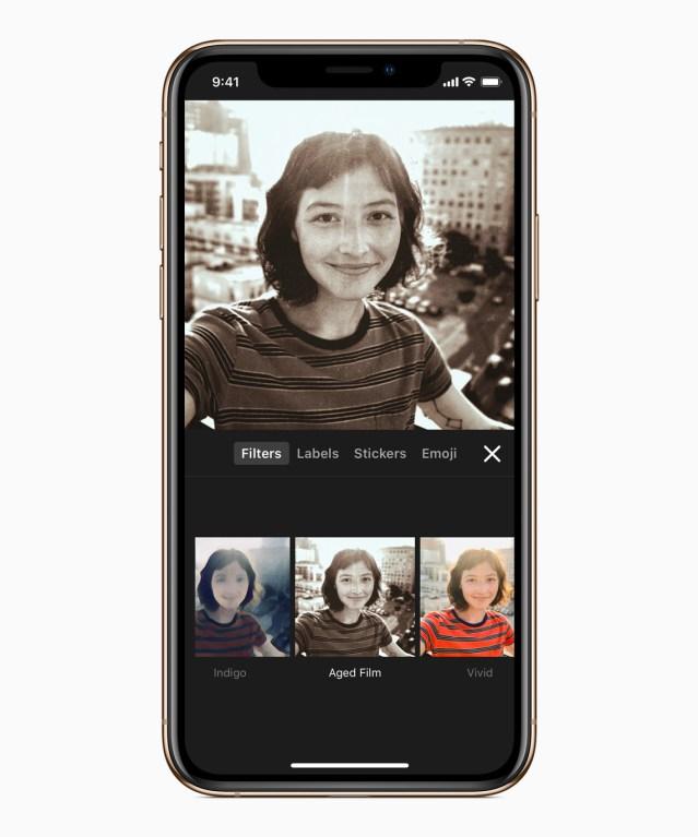 Apple updates its selfie app, Clips