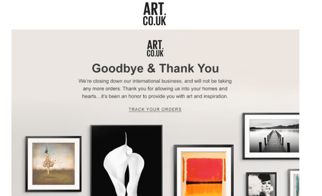 """Goodbye and Thank You"": After Walmart purchase, Art.com shutters international operations"